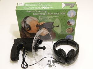 Directional microphone with headset for birdwatching