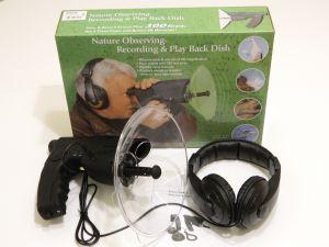 Microfono direzionale con cuffia per ascolto a distanza di suoni ambientali, birdwatching