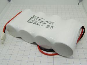 Batteria ricaricabile NiCd nickel-cadmio 4,8V 4Ah , pacco 4 elementi affiancati, mm.130x60x32