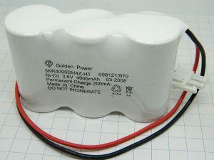 Batteria ricaricabile NiCd nickel-cadmio 3,6V 4Ah , pacco 3 elementi affiancati, mm.97x60x32