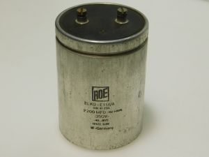 2200mF 350V capacitor ROE, vintage