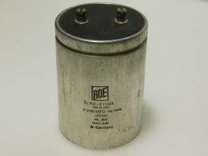 2200uF 350V condensatore elttrolitico ROE, vintage