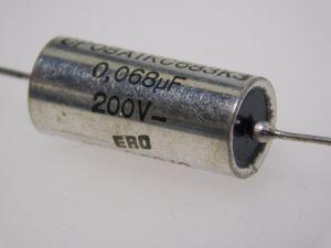 0,068MF 200V PIO paper oil capacitor  ERO TB368/2 , audio vintage