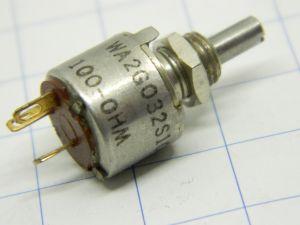 Potenziometro 100ohm 0,5W Allen Bradley type W , terminali dorati