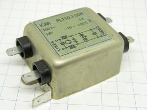 Filtro antidisturbi EMI ICAR FL110.3.00/F 250Vac 3Amp