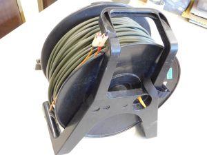 Fibra ottica campale 2G 50/125 100um con riavvolgitore, bobina da mt. 100