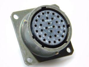BENDIX MS3112E-18-32S connector receptable female 32pin , connettore femmina pannello