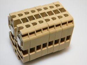 Morsetto componibile CABUR SV6  6mmq. barra omega (n.8 pezzi)