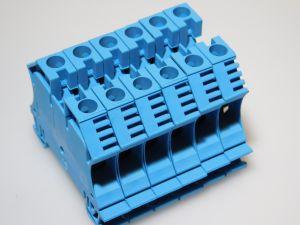 Morsetto componibile WEIDMULLER WDU10BL  16mmq.  barra DIN (n.6 pezzi)