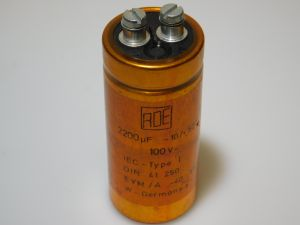 2200MF 100Vdc capacitor ROE EYM-A