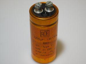 2200uF 100V condensatore elettrolitico ROE EYM-A