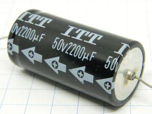 2200uF 50V condensatore elettrolitico assiale ITT