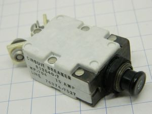 Mechanical Products 613540-7 MP704  circuit breaker aircraft 15Adc, interruttore termico ripristinabile.