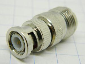 Coaxial adapter PL-M/BNC-F