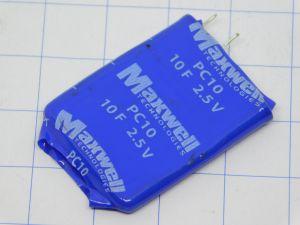 10F 2,5V Maxwell PC10  supercondensatore , memoria