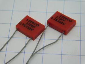 270pF 350V 2% condensatore Mica Argento Lemco (n.2 pezzi)