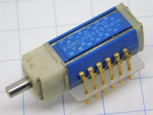 Rotary switch 6pos 8way RES France HK122 , gold plated 24K