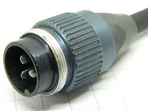 Connettore Tuchel TGL68-23RFT audio 3pin , maschio volante, microfono