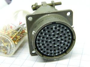 Connector CANNON MS3122E24-61P  61pin socket female