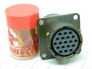 Connector SOURIAU 851-00R-14-19S  19pin socket female