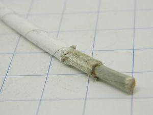 Cavo 1xAWG10  PTFE teflon bianco fibra,  argentato 2micron