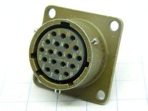Connettore Cannon KPT02E14-19S femmina da pannello 19pin