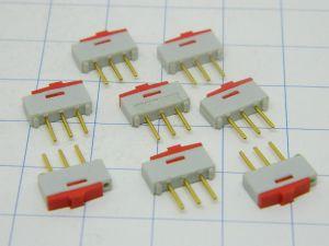 Interruttore a slitta micro da circuito stampato SECME FRANCE (n.8 pezzi)