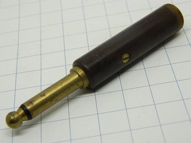 Jack plug PL55 mm 6,3 backelite USA old military surplus