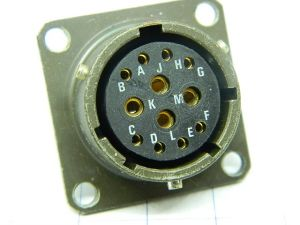 Connettore SOCAPEX PT02E-14-12S  12pin  femmina da pannello