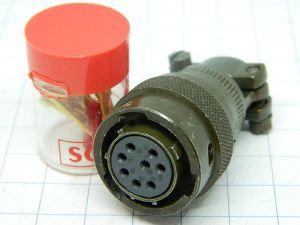 Connector SOURIAU 851-06RC-12-8S  8pin  plug female