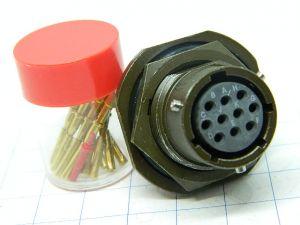 Connector SOURIAU 851-07R-12-10S B  10pin  socket female