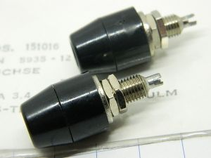 Professional binding post  TELEFUNKEN black mm.4 (n.2pcs.)