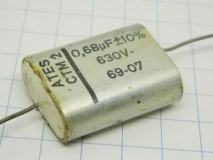 0,68uF 630V condensatore ATES CTM2 vintage audio