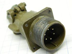 Connettore MS3100C18-12P S3  Cannon  6pin  maschio da pannello
