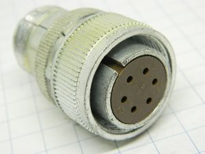 Connector AN3106B-18-12S  Cannon  6pin  plug female