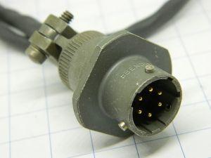 Connettore PT01E-10-6P  Bendix  6pin maschio da pannello, cablato con cavo cm.35