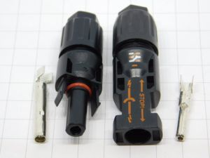 Pair connector MC4 solar panel