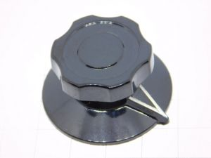 Manopola con indice nera Stockli per apparati radio militari mm.38x19