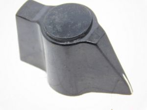 Manopola con indice nera Bulgin per apparati radio militari mm.40x22
