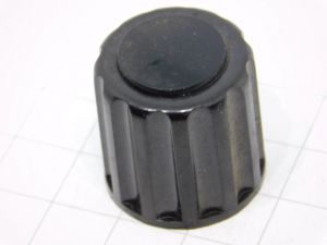 Manopola nera Bulgin per apparati radio militari mm.23x24