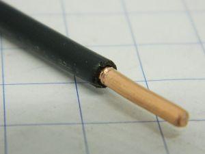 Cavo 1xAWG10 solid core, rame OFC naturale,  isolamento in PVC nero