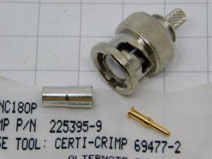 Connettore BNC maschio a crimpare AMPHENOL 225395-8   BNC 180P