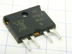 0,002ohm 10W  manganin precision resistor ISA PBV-R002 1%