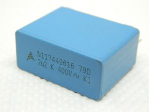2,2MF 400Vac capacitor MKP  EPCOS  N116539012  crossover audio