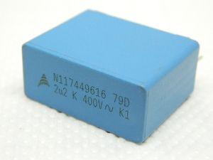 2,2uF 400Vac condensatore MKP polipropilene EPCOS  N116539012  crossover audio