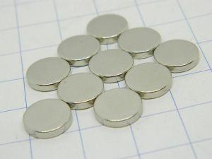 Magnete calamita al Neodimio super potente mm. 10x2 (n.10 pezzi)