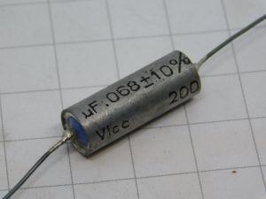 0,068uF 200Vcc condensatore carta olio pio ICAR
