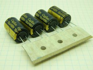 10uF 450Vcc condensatore elettrolitico CapXon P1520 Vent 105° (n.4 pezzi)