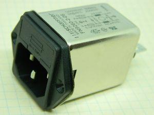 Filtro rete SCHAFFNER FN9260-2-06 250Vac 2A, presa IEC con portafusibile