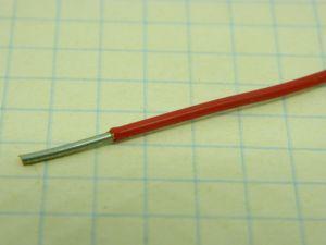 Filo unipolare AWG18 solid core Teflon rosso,  rame OFC argentato 3%